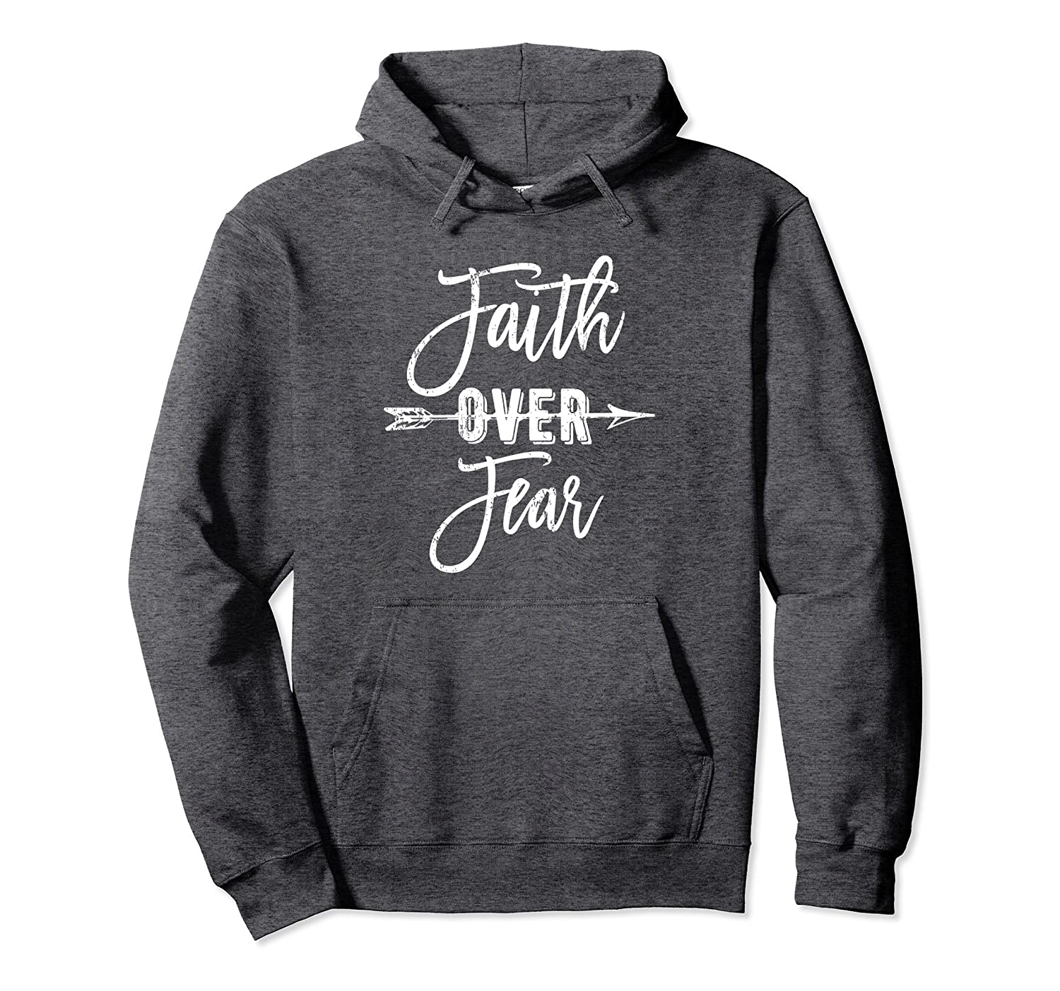 Faith over Fear Christian Hoodie – Bible Quote Inspiration-Samdetee