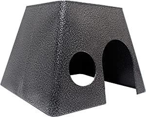 Felix & Fido SafeHaven All Metal Small Animal Hideaway Hut. Solid Safe Construction. All Smooth Edges. ChewProof. Guaranteed for Life