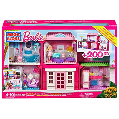 Mega Bloks Barbie Fab Mansion: Toys & Games
