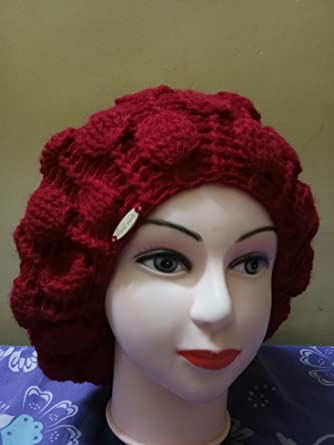 5103bc717a619 Classic French Artist 100% Wool Beret Hat Red  Amazon.co.uk  Clothing