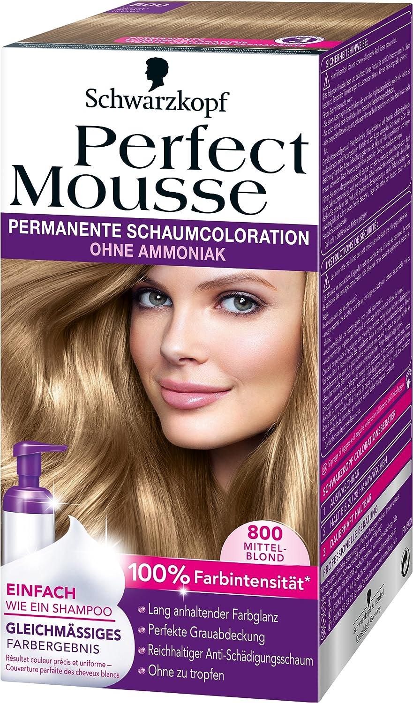 Perfect Mousse de Schwarzkopf, coloración permanente.: Amazon ...