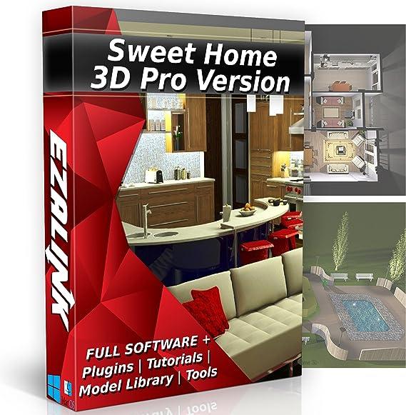 Sweet Home 3d Interior Design House Architect Designer Suite Software Pro W 3d Models Plugins Tools Tutorials Chief Cad Program For Windows Pc Mac 2019 Amazon Ca Software