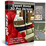 Sweet Home 3D Interior Design House Architect Designer Suite Software PRO w/ 3D Models, Plugins, Tools & Tutorials - Chief CAD Program for Windows PC & Mac 2018