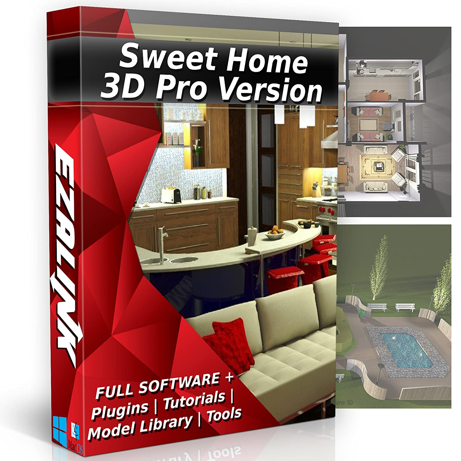 Sweet home 3d interior design house architect designer suite software pro w 3d models plugins tools tutorials chief cad program for windows pc mac