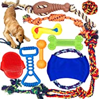 Jalousie Dog Chew Toys Dog Natural Rubber Toys Dog Rope Toys for Puppy Dog Mutt Dog Gift Toy Assortment for Small Medium Dogs