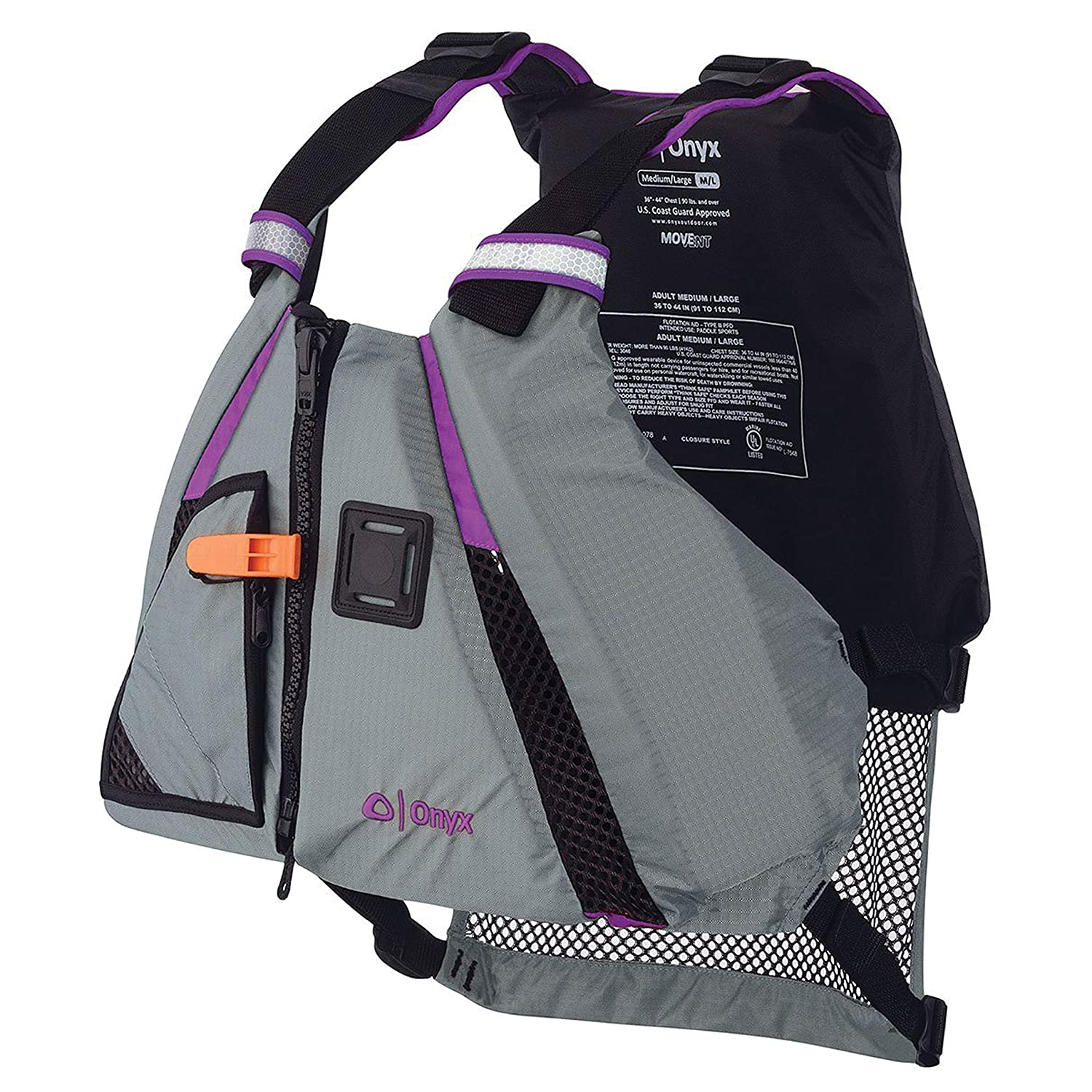 Amazon.com : Onyx MoveVent Dynamic Paddle Sports Life Vest ...