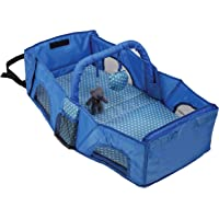 Luvlap Baby Nest Travel Bed - for On-The-Go Napping and Diaper Changes (Blue)