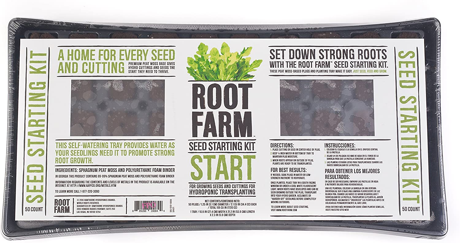 Root Farm 10101-10084 Seed Starting Kit - 50 Pods