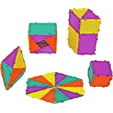 Geometiles 3D Building Set for Learning Math, Includes Online Activity Books, Mini Set 2, 32-pc, Made in USA