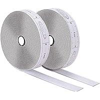 ECENCE Klittenband zelfklevend Wit 6m, incl. meetlint in cm om de klittenbandstrip gemakkelijk te snijden binnen…