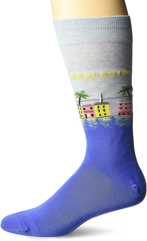 Hot Sox Men's Bold Stripe Crew Socks HM100104-C