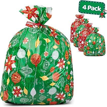 Amazon.com: Bolsas de regalo de Navidad grandes, juego de 4 ...