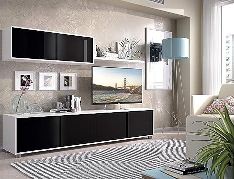 Mobelcenter - Mueble de Salón Blanco y Negro - Mueble de ...