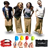Elite Potato Sack Race Bags - 3 Fun Outdoor Games for Kids, the Potato Sack Race, the 3 Legged Relay Race and the Egg and Spoon Race - Store's away in its own Compact Bag, 3 Fun Backyard Games for All