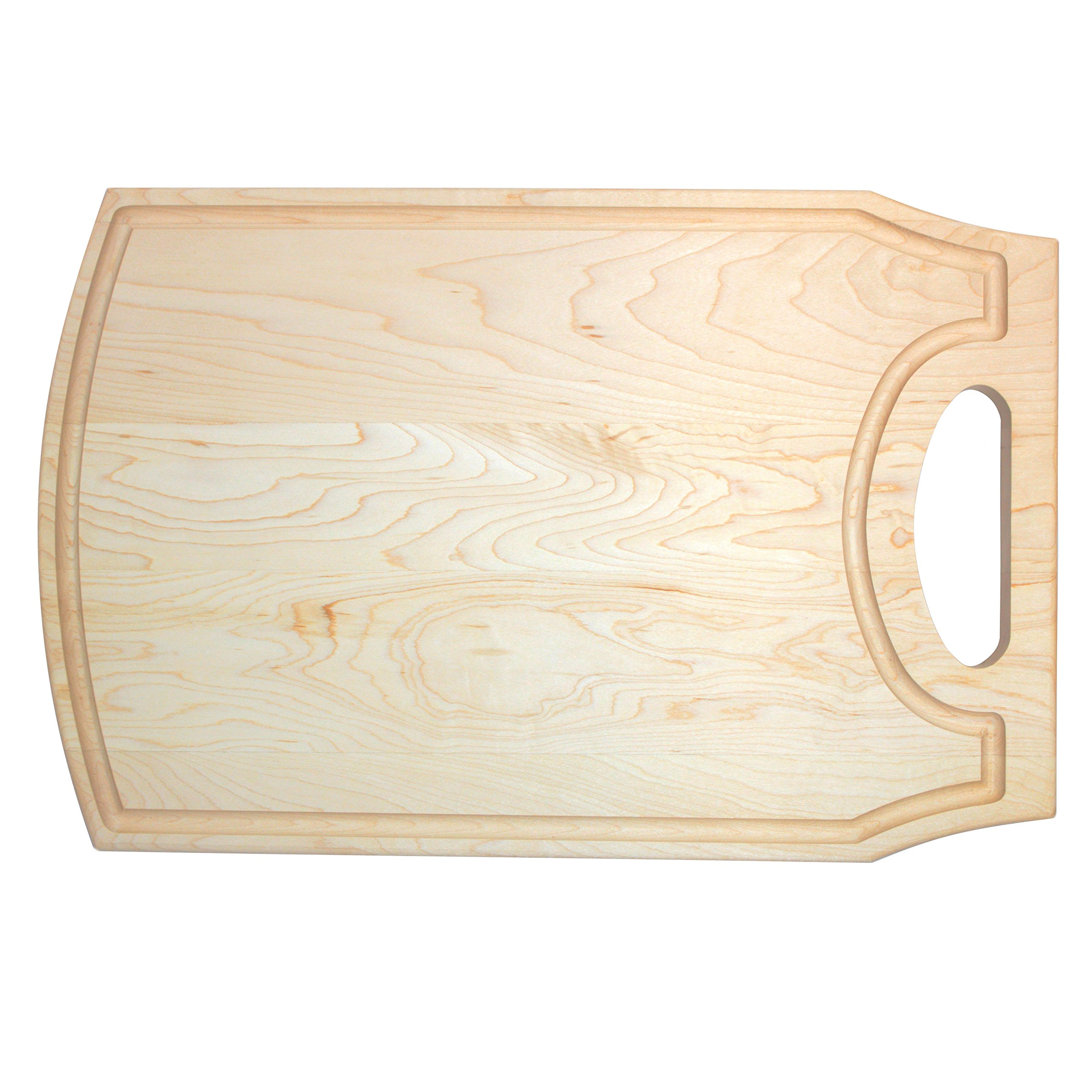 KitchenTalent Maple Cutting Board - Unique Hardwood Cutting Board - 10.5'' x 16'' x .75'' - Maple Chopping Block - Great Gift Idea