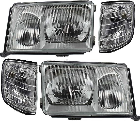 Scheinwerfer Blinker Set E Klasse Für W124 Bj 93 98 H4 H3 Pneumatisch Auto