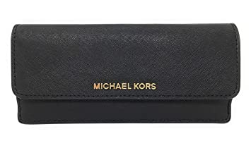 8a2878807070 Image Unavailable. Image not available for. Colour  Michael Kors Jet Set  Travel Flat Wallet Black Saffiano Leather