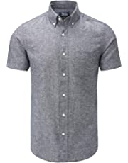 Charles Wilson Men's Short Sleeve Linen Shirt