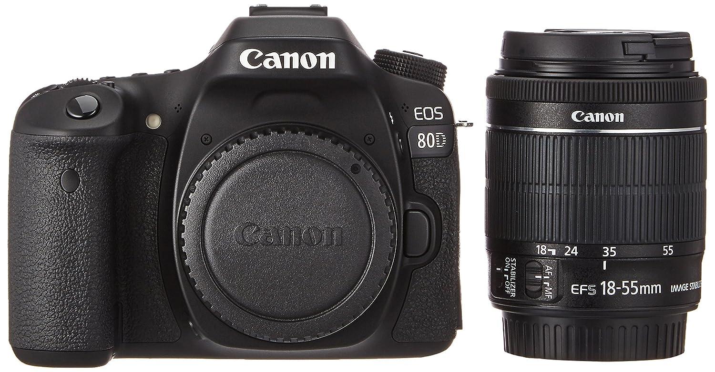 Canon EOS 80d EF-S 18 - 55 IS STM Cámara Réflex Negro: Amazon.es: Electrónica