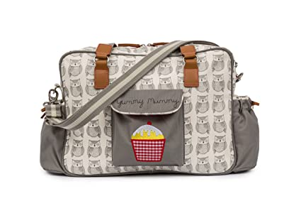 Pink Lining Yummy Mummy – Bolso cambiador pañales bolsa – sabio búho