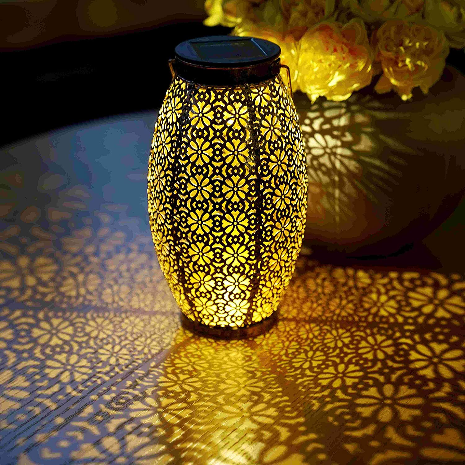 2 Pack Solar Lanterns Outdoor Hanging Solar Lights Decorative, Outdoor Decorations for Patio Garden Yard Porch and Tabletop.