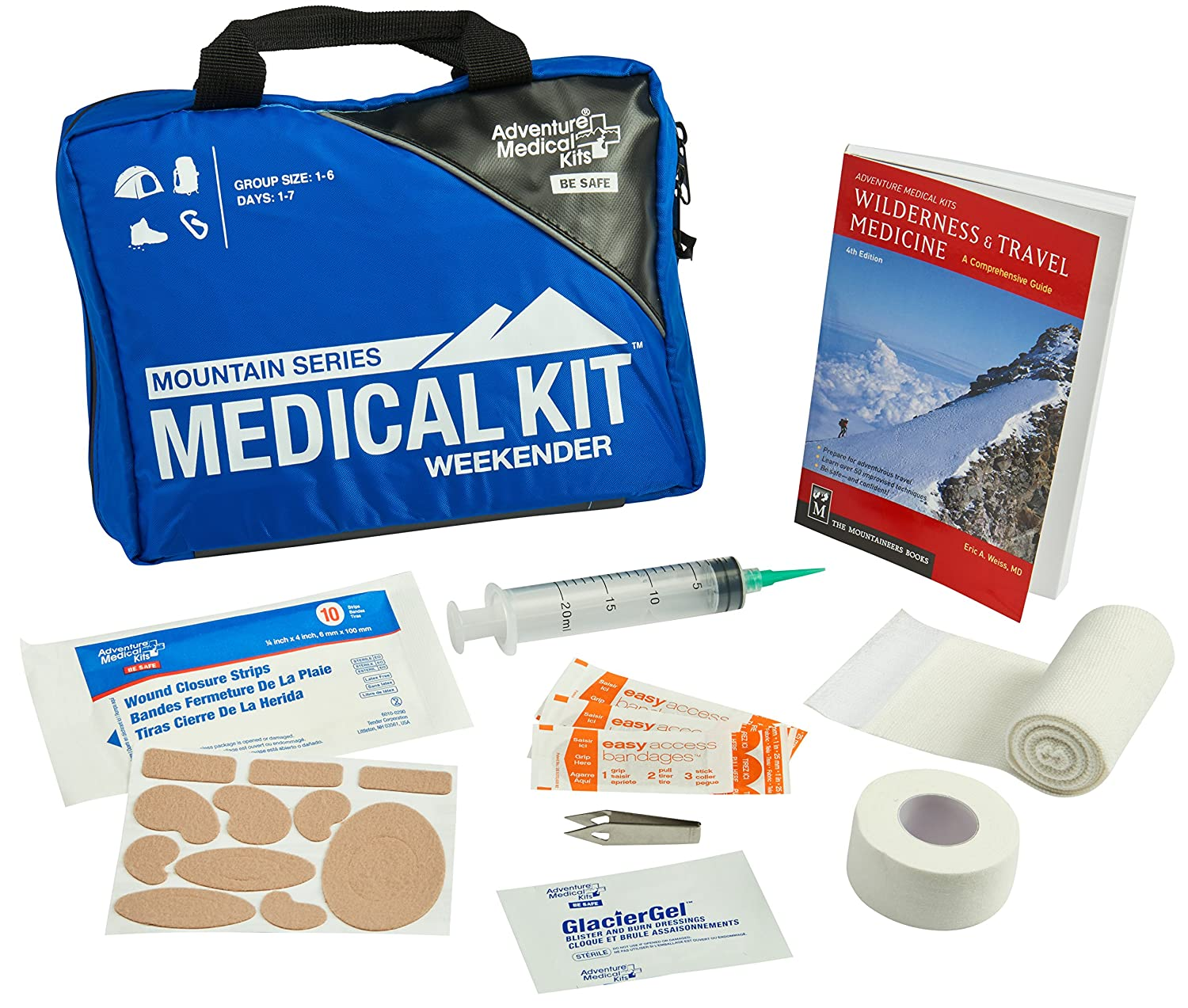 Adventure Medical Kits Mountain Series Weekender First Aid Kit, Backcountry  Medical Care,