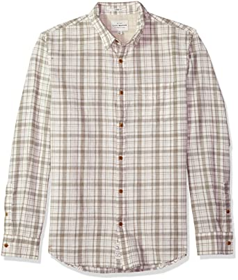 01f734d9dbc16 Lucky Brand Men s Long Sleeve Plaid Ballona Button Down Shirt in White  Multi