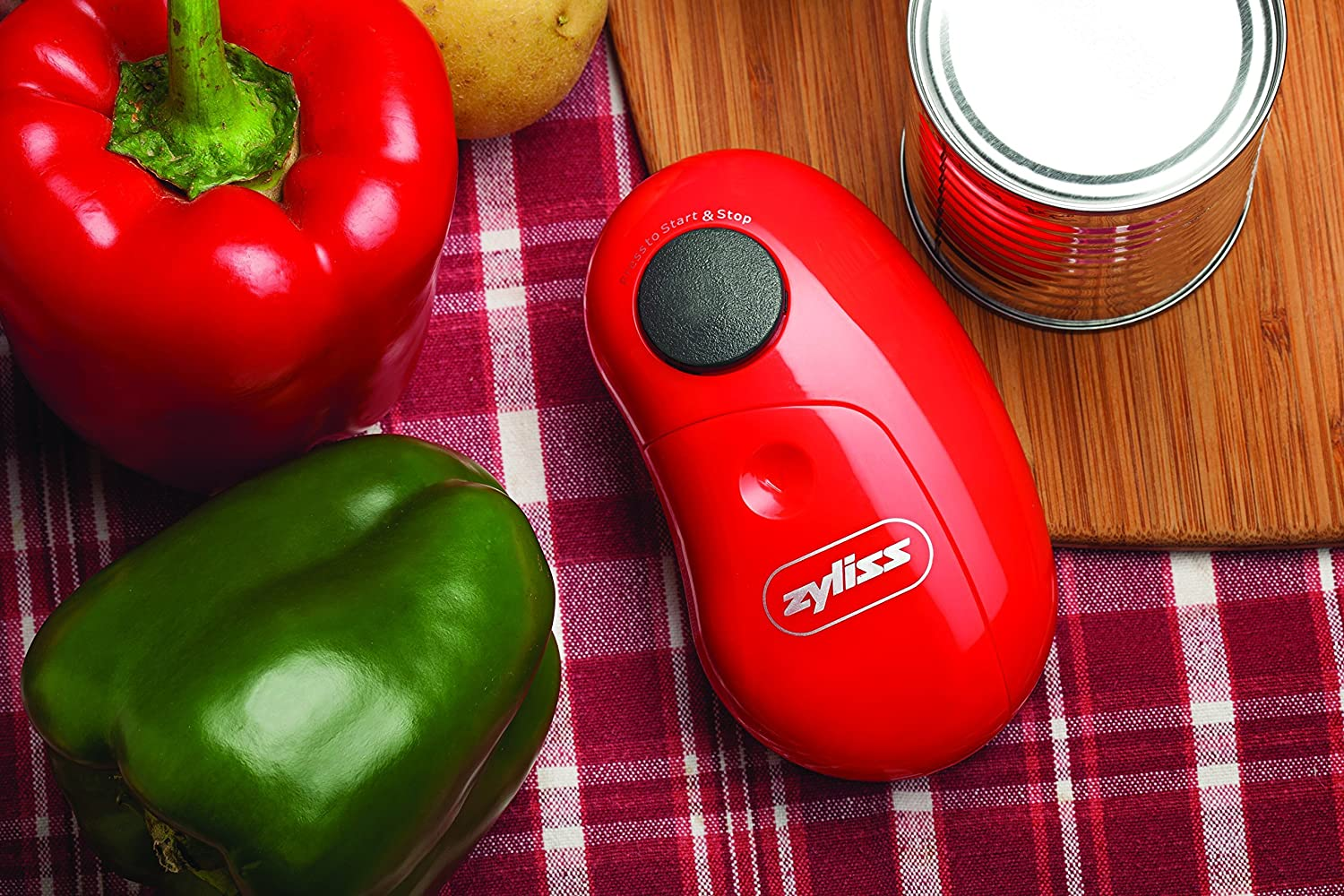 Renewed Red ZYLISS EasiCan Electric Can Opener