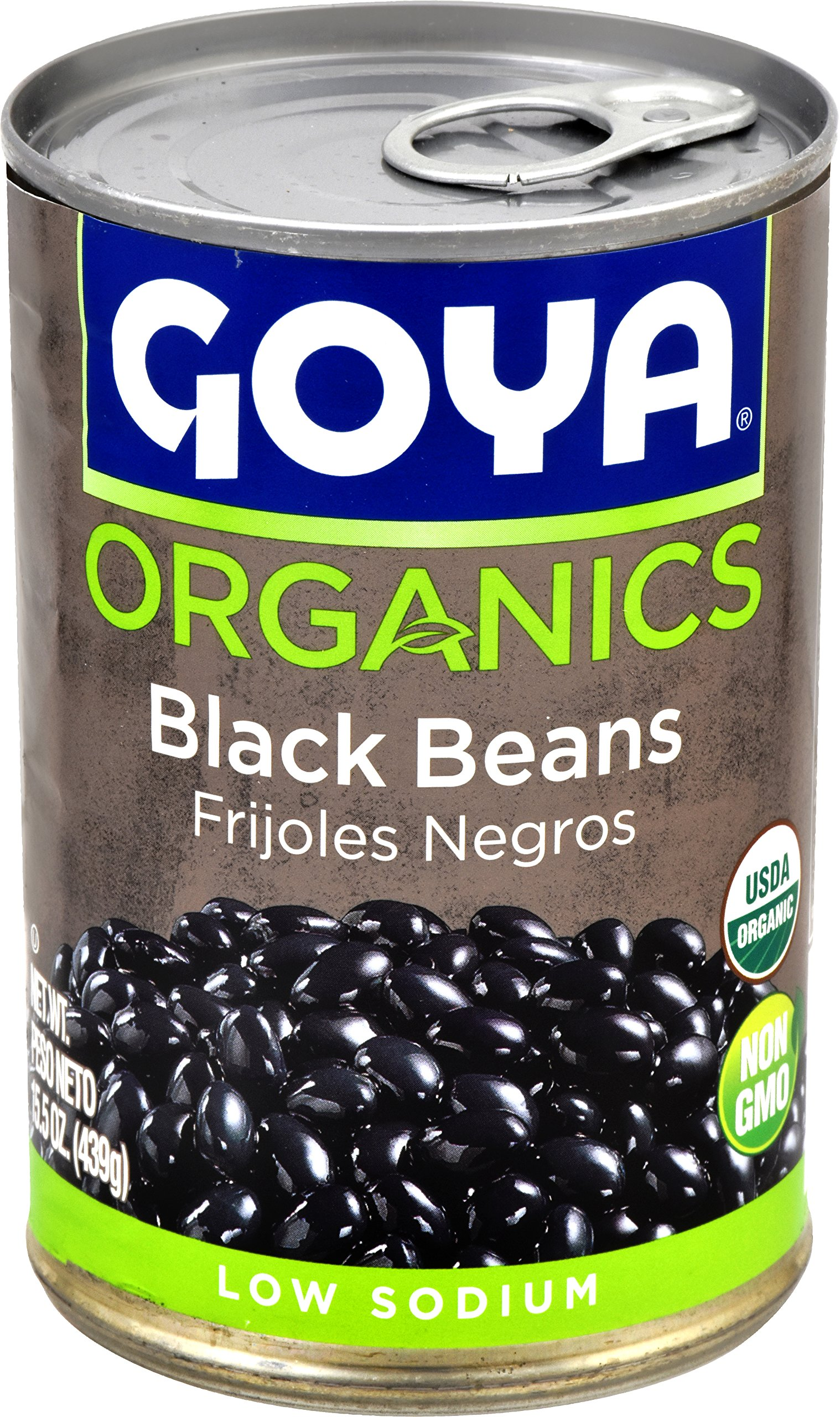 Goya Foods Organic Black Beans, 15.5 Ounce (Pack of 24)