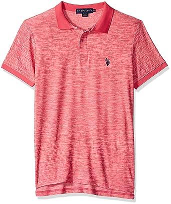 U.S. Polo Assn. Hombre 11-8028-47 Manga Corta Camisa Polo - Rosado ...