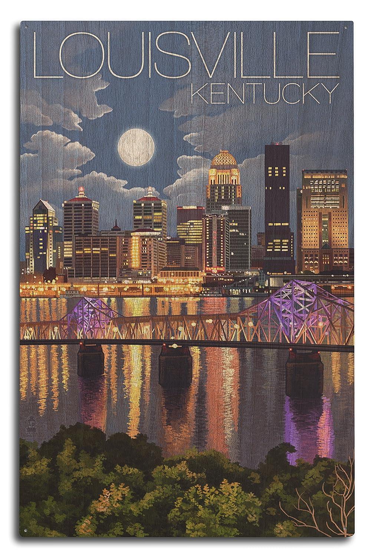 『4年保証』 ルイビル B07366R11R、ケンタッキー州 Wood – 夜のスカイライン 16 x 24 Giclee Print Print LANT-45568-16x24 B07366R11R 10 x 15 Wood Sign 10 x 15 Wood Sign, s.f.selection:9b4dcec0 --- kuoying.net