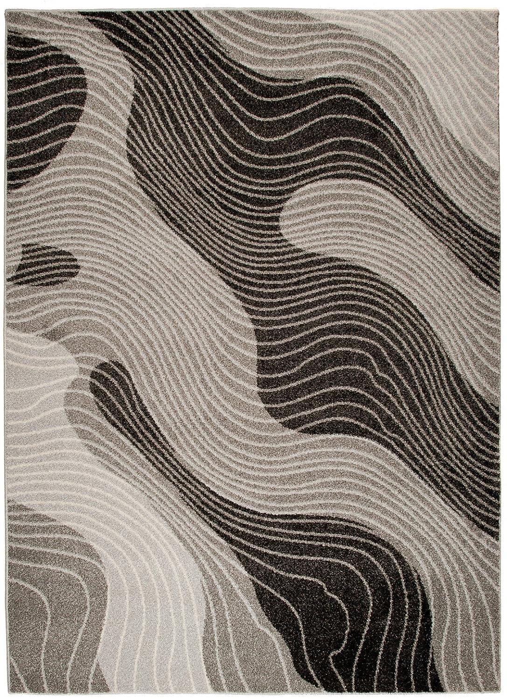 Carpeto Teppich Modern Grau 160 160 160 x 220 cm Abstrakt Muster Oslo Kollektion B07FN2JLD3 Teppiche 98a94e