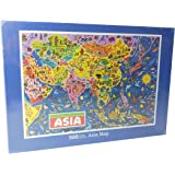 Asia Map Jigsaw Puzzle by James Hamilton Grovely