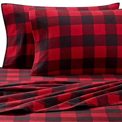 058dc3e861b Amazon.com  Seasons Collection The Heavy Weight Flannel 3 Piece ...