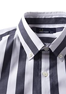 Fred Perry Block Stripe Shirt F4358: Navy