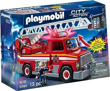 PLAYMOBIL Rescue Escalera Unidad Playset: Amazon.es: Juguetes y juegos