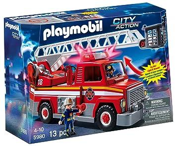 playmobil rescue ladder unit - Playmobil Pompier