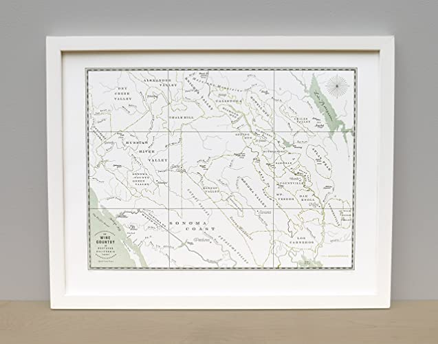 Amazon.com: Northern California Wine Country Map Unframed Print ...
