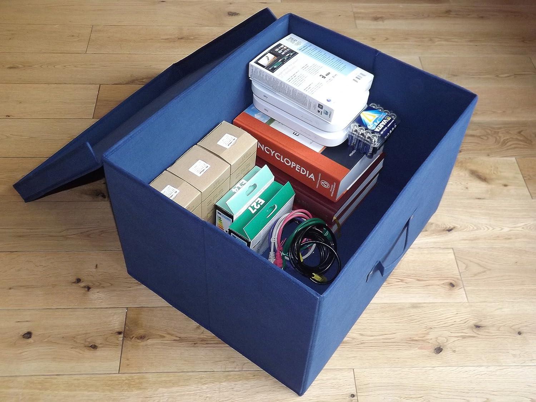 Neusu Starke Faltbare Aufbewahrungsbox Jumbo 60 Liter 50x40x30cm 1pack Blau
