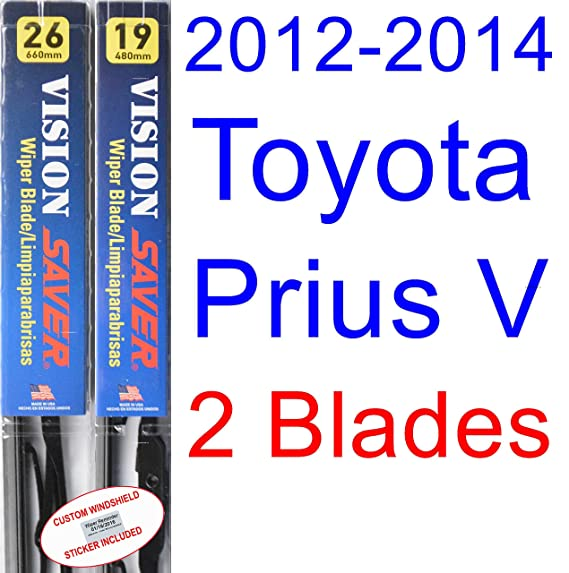 Amazon.com: 2012-2014 Toyota Prius V Wiper Blade (Passenger) (Saver Automotive Products-Vision Saver) (2013): Automotive