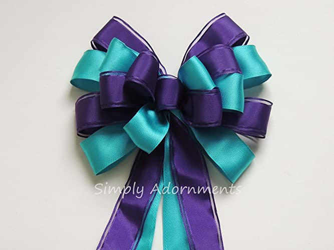 purple turquoise wedding pew bow turquoise purple wedding aisle decoration bow peacock bridal shower decoration bows