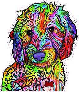 Enjoy It Dean Russo Labradoodle Car Stickers, 2 Pieces