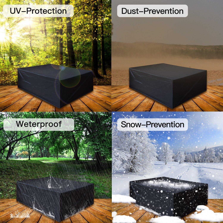 200 * 160 * 70 Dellcciu Custodia Protettiva Custodia Protettiva Copri Copertura per mobili da Giardino e Rivestimento per sedili rettangolari