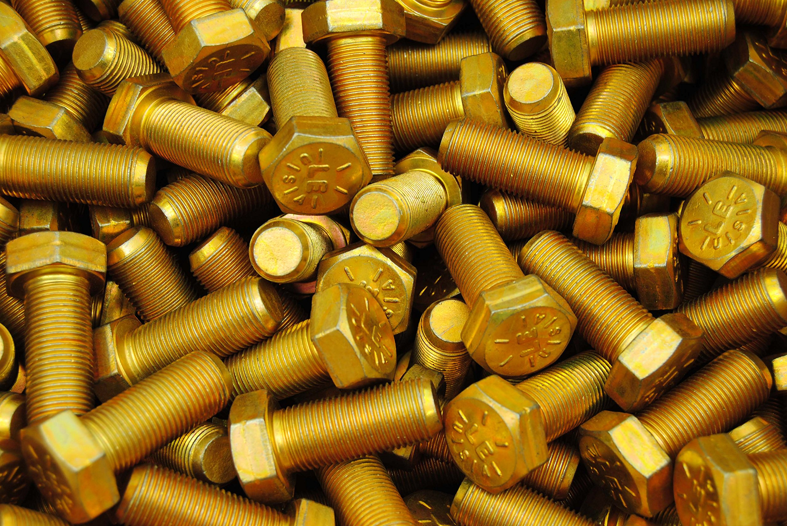 (30) Hex Head Bolts 5/8-18 x 1-1/2 Grade 8 Fine Thread Yellow Zinc USA Made