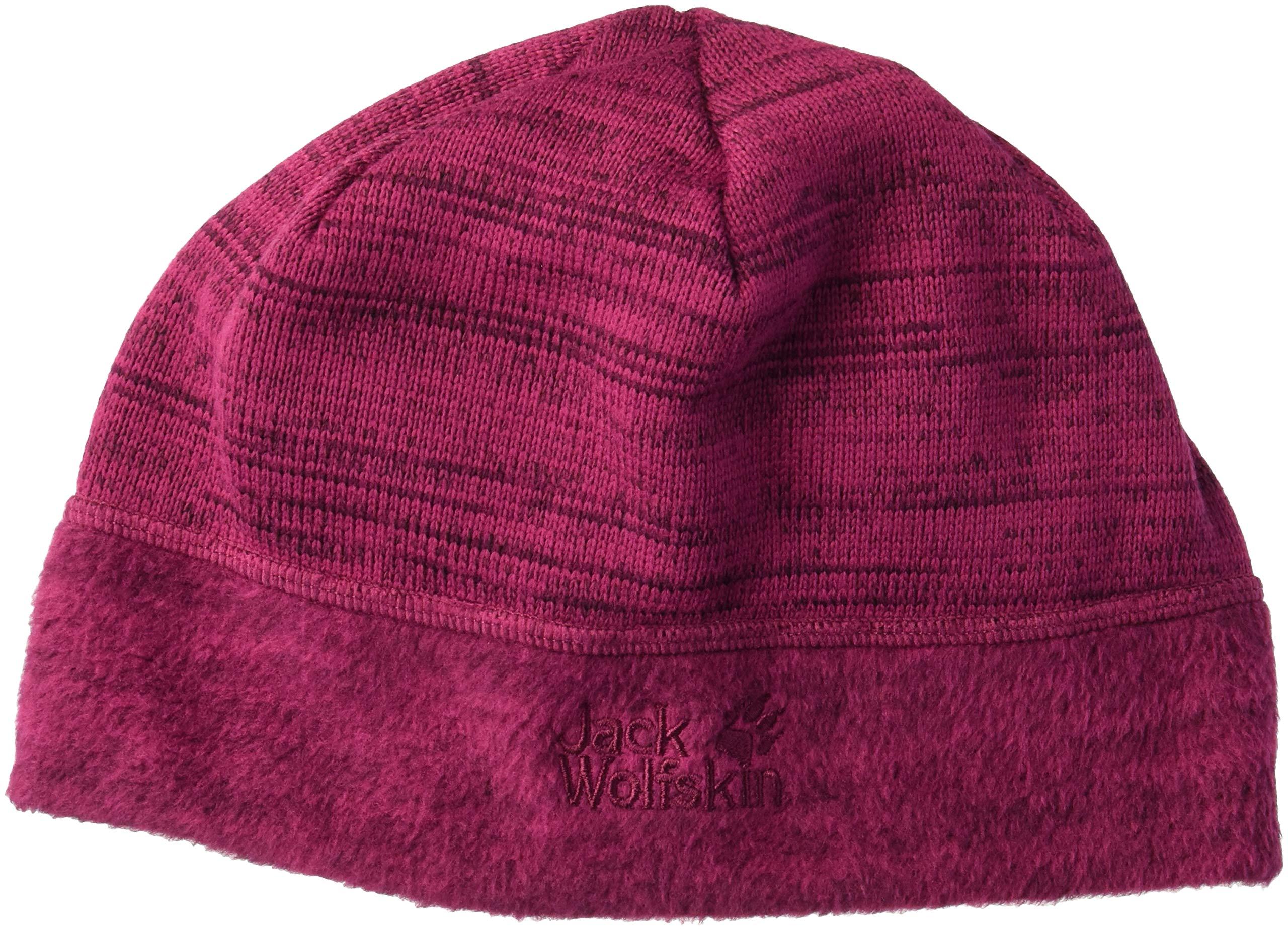 Jack Wolfskin Aquila Fleece Beanie Hat, Amethyst, Medium