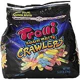 Trolli Large Sour Brite Crawlers Gummi Candy Worms, 5lb Bulk Bag