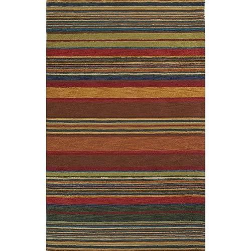 Liora Manne Inca Stripe Rug, 5 by 8-Feet, Multi