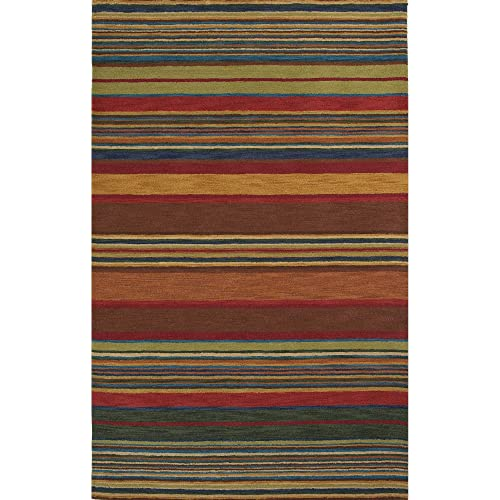 Koeckritz 5 x8 Down Town Brown 25.5 oz 1 2 Thick Plush Cut Pile Indoor Carpet Area Rug