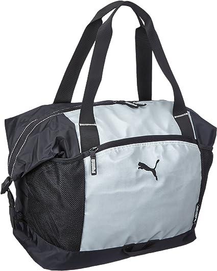 PUMA Damen Sporttasche Fitness Glow Workout, Silver