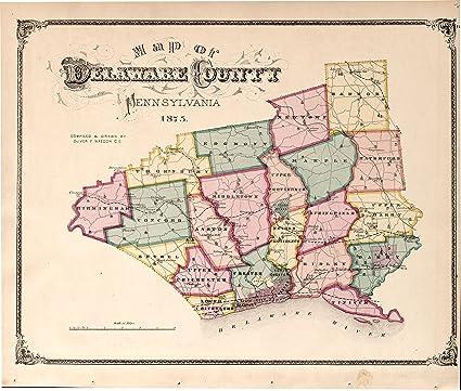 Amazon.com: Vintage 1875 Map of Combination atlas map of ...
